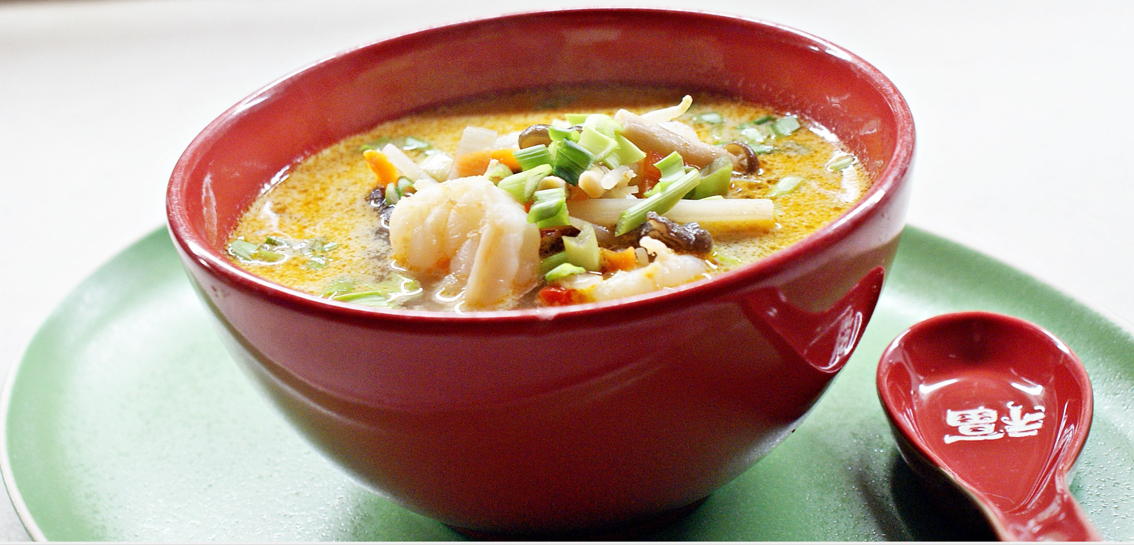 Zupa tajska na mleczku kokosowym